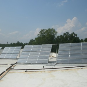ECS installed this solar water heating system for the Pulaski County jail